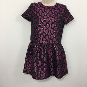Brooks brothers Girls jacquard floral party dress